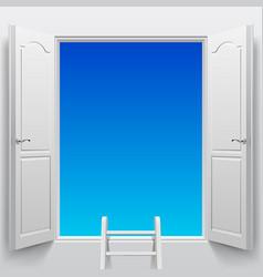 Double doorsinto sky vector
