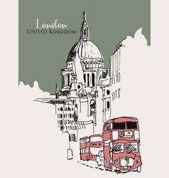 drawing sketch london uk vector image
