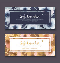 Elegant gift voucher coupon template vector