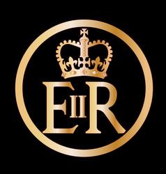 Elizabeths reign emblem vector