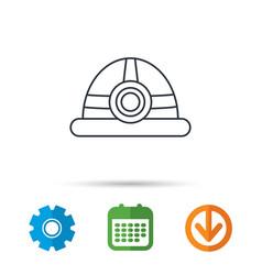 engineering icon engineer or worker helmet vector image