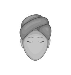Face of girl on Spa icon black monochrome style vector image