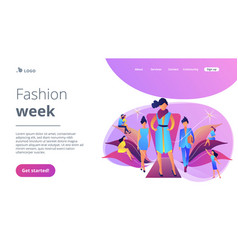 Fashion week concept landing page vector