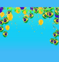 Festival celebrated brazilian colorful vector
