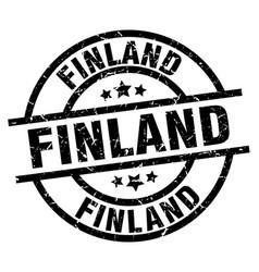 Finland black round grunge stamp vector