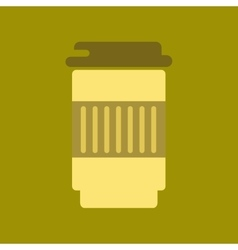 flat icon on background coffee to go caffeine vector image