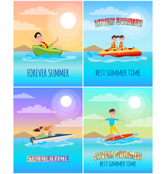 Forever summertime collection vector