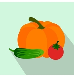 Fresh vegetables flat icon vector image