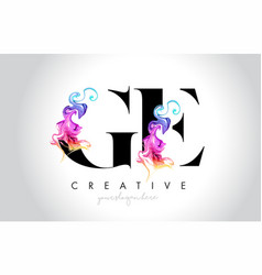 Ge vibrant creative leter logo design with vector