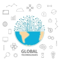 global technologies concept vector image
