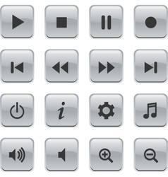 glossy media buttons vector image