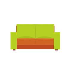 green modern sofa living room or office interior vector image
