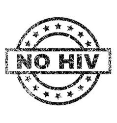 Grunge textured no hiv stamp seal vector
