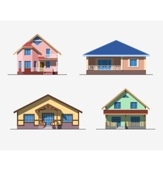 Houses 2 color vector image vector image