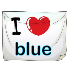 I love blue vector image