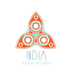 india yoga studio logo symbol health and beauty vector image
