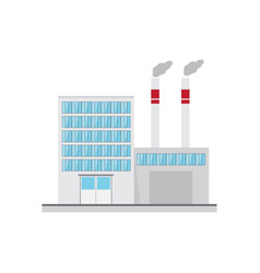 industrial factory in flat style vector image