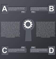 Keys modern infographic Design elements vector image vector image