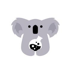 koala lab glass flask negative space logo icon vector image