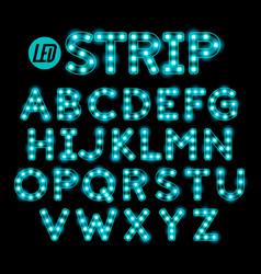 led ribbon strip light alphabet vector image