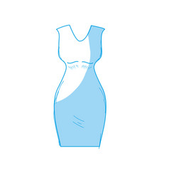 Line nice woman wear style design vector