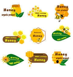 Logo honey bee wasp in vector