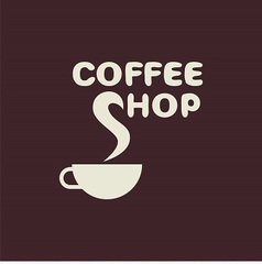 logo with cup and text cafe vector image