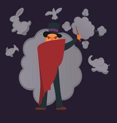 magic show poster design vector image