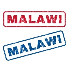 Malawi Rubber Stamps vector