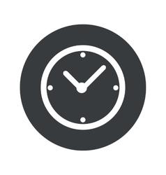 Monochrome round clock icon vector