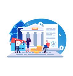 online bank agreement loan contract bill vector image