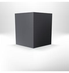 Open folder template standing vector image