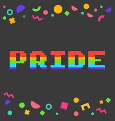 Pixel pride vector