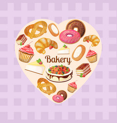 Premium collection of colorful tasty cakes vector