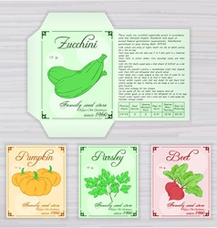 Printable template of seed packet with image name vector