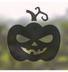 pumpkin icon on blurred background vector image