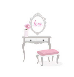 Romantic furniture vector