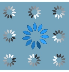 Round preloader animation frame vector image