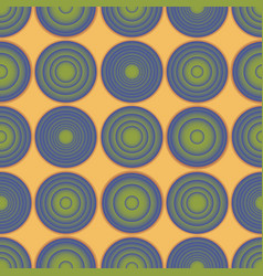 seamless gradient rounds yellow pattern vector image