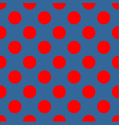 seamless pattern with red polka dots vector image