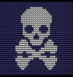 Seamless skull knitting pattern vector