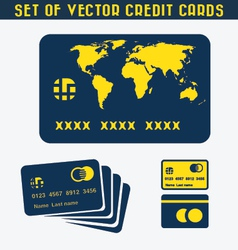 Set credit cards vector
