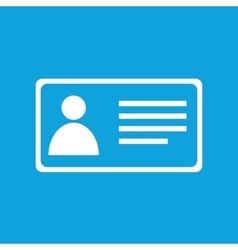 Simple identification card blue icon vector