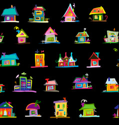 sketch art houses seamless pattern for your vector image