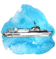 Sketch ship vector