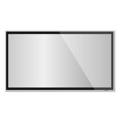 Smart tv mock-up tv screen led tv hanging on the vector