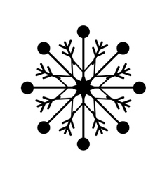 snowflake xmas winter vector image