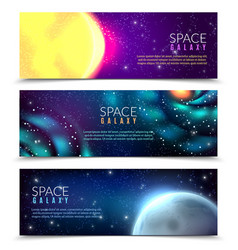 space constellations banners vector image