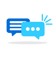 speech bubbles conversation symbol vector image
