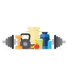 sport fitness healthy lifestyle vector image